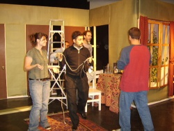 Building the set of Noises Off 2011